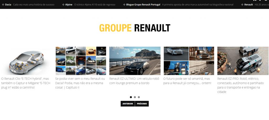 600 artigos publicados no blogue da Renault Portugal