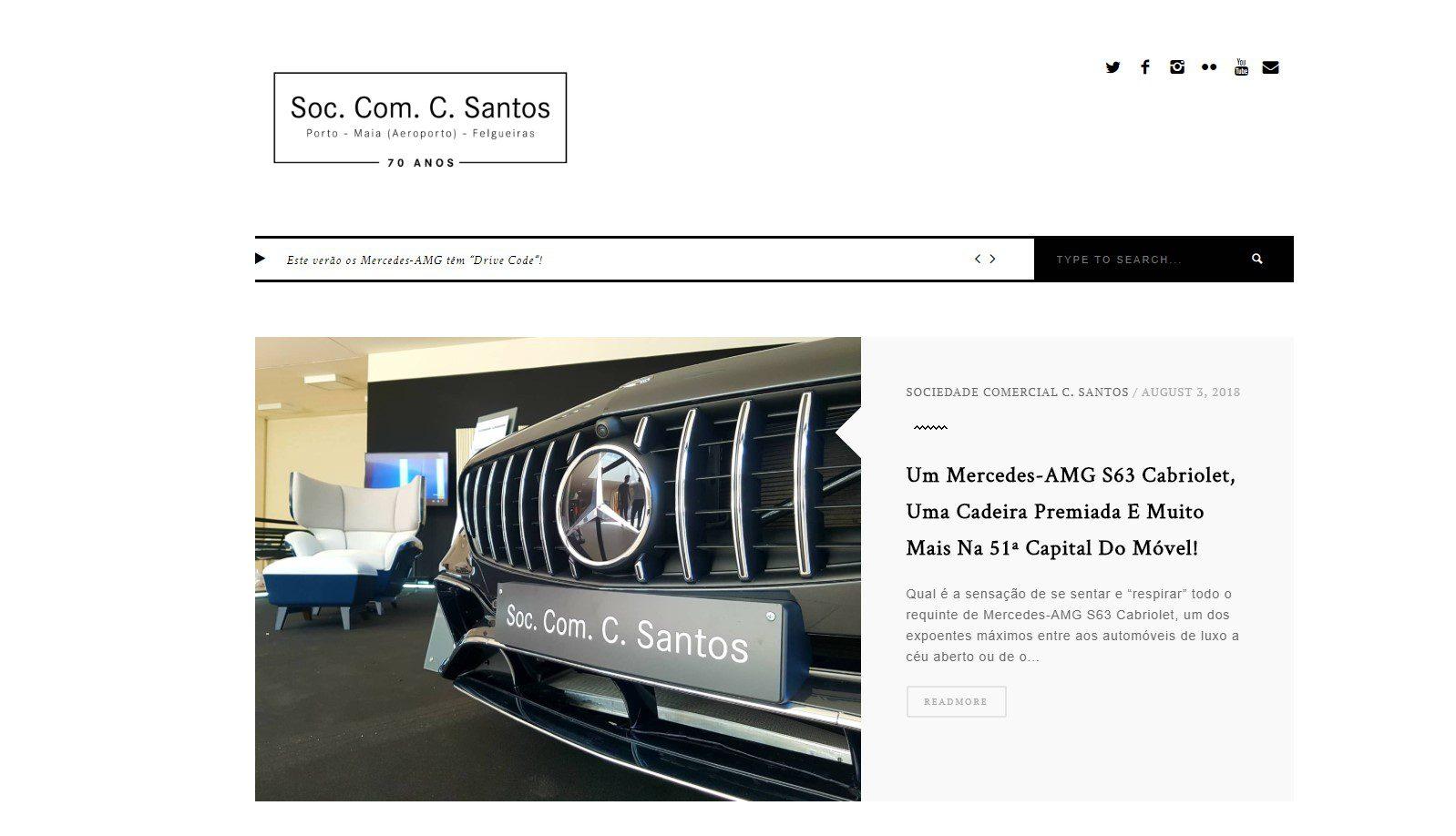 Blogue Sociedade Comercial C. Santos